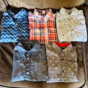 Boys lot size 7 button down short sleeve shirts